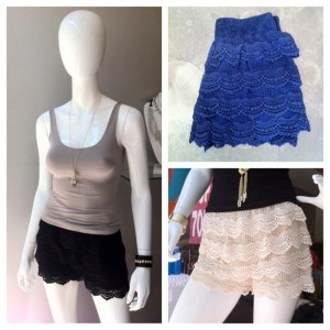 Lace Shorts Back in Stock