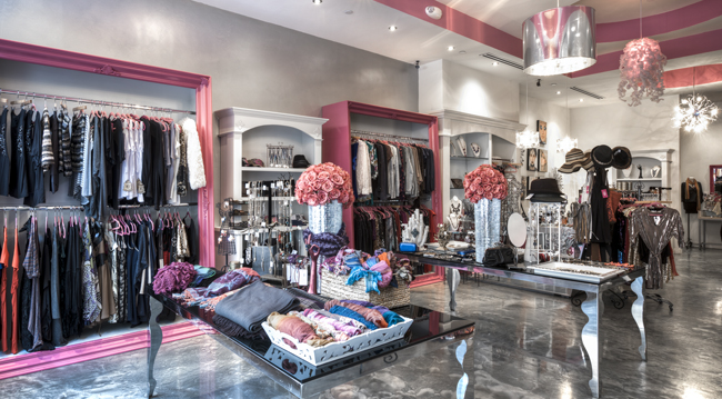 Contemporary clothing stores. Women clothing stores